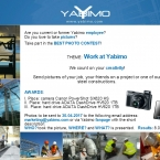 1st Yabimo Photo Contest