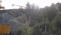 Øla bridge -steel construction, Norway