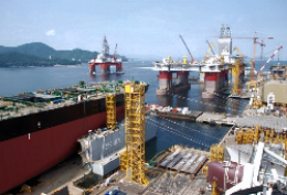 Prefabrication personnel at Aasta Hansteen