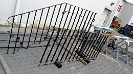 Prefabrication of steel railings