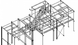 Workshop design of steel structures in ventilations house in afactory in Billund, Denmark