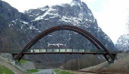 Giverhaugen steel bridge construction