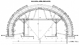 Supporting structure for formwork for steam tunnel in Alta, Norway