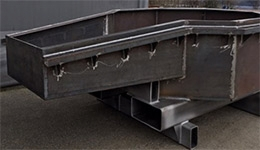 Production of steel containers