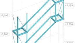 Design of staircases in aresidential building in Vildbjerg, Denmark