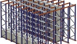 Warehouse racks for low temperatures and high salinity environment, Norway