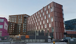 Finishing works in a block of flats and office building in Iceland