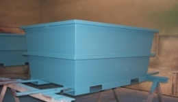 Prefabrication of boxes used in power sector, Norway.