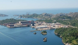 Insulation works in Egersund, Norway