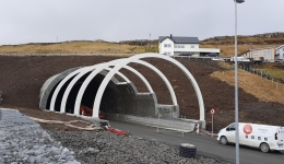 Steel arches for atunnel, Norway