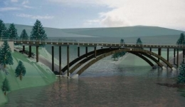 Asta steel bridge, Norway
