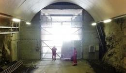 Steel doors closing road tunnels, Norway