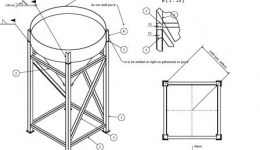 A supporting structure for the silo and slip-ups, Sweden