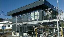 Steel balcony railings, Norway